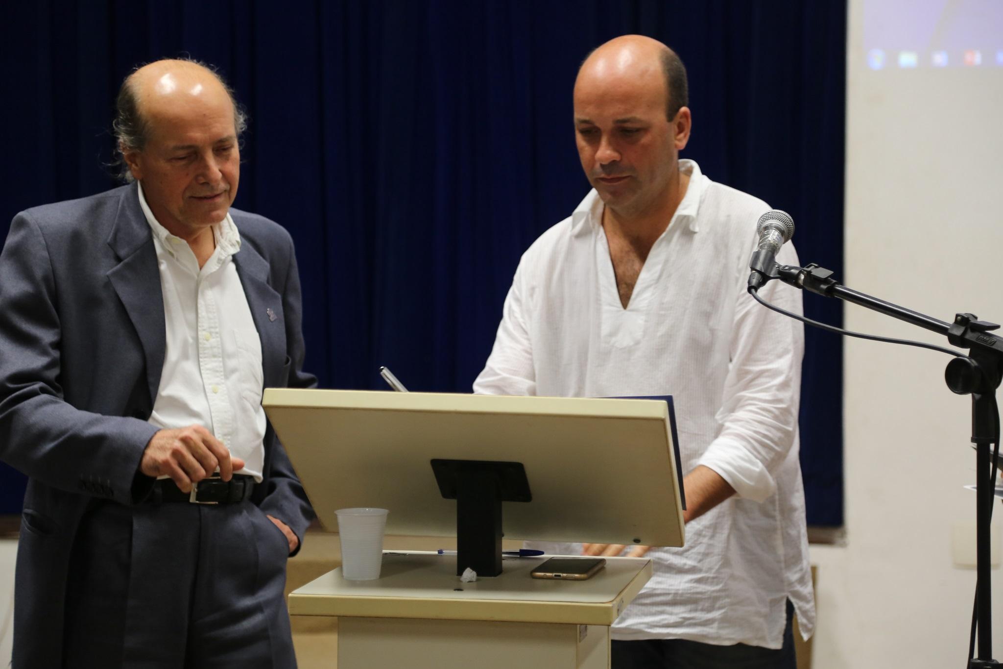Decano eleito do IHAC, Marcos Eduardo Cordeiro Bernardes