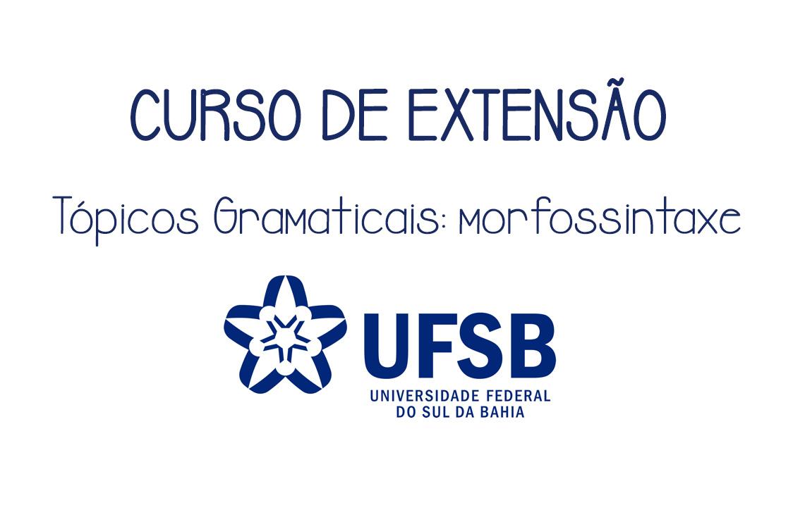 CURSO DE EXTENSÃO - MORFOSSINTAXE