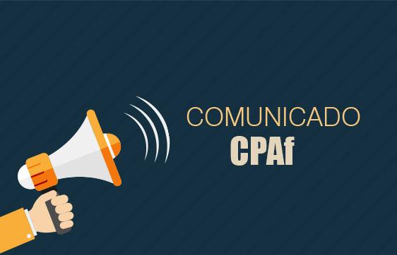 COMUNICADO - CPAf