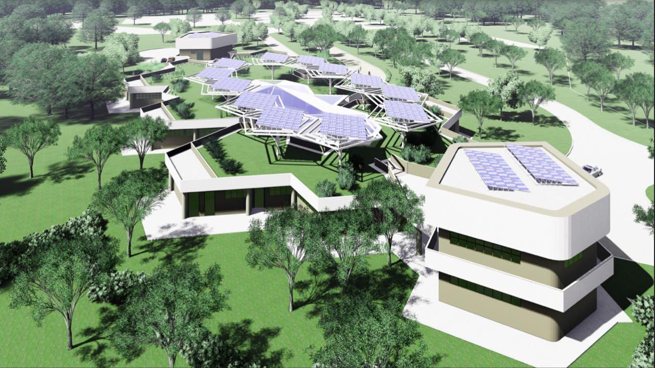 Modelo 3D do Núcleo de Vivência e Gestão Acadêmica
