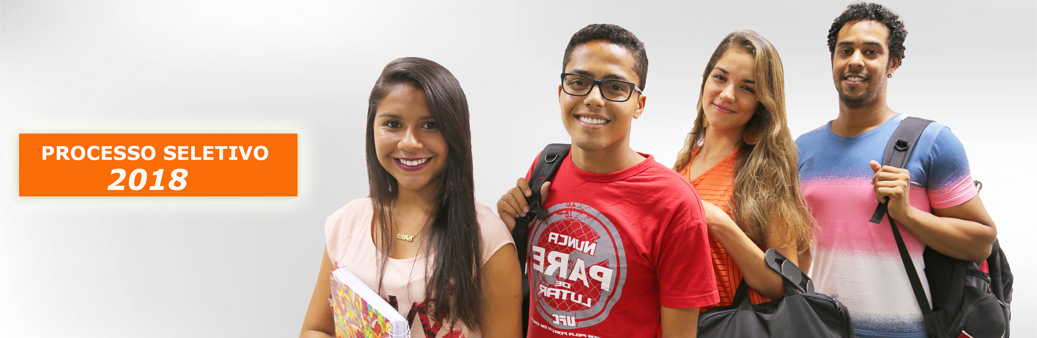 Banner com alunos da UFSB